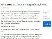 The New York Times: Hair Wars Underground on 125th Street